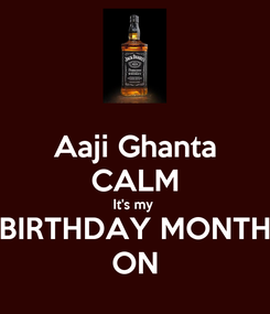 Poster: Aaji Ghanta CALM It's my  BIRTHDAY MONTH ON