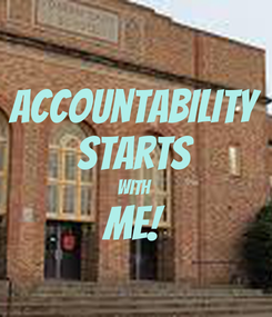 Poster: Accountability Starts with Me!