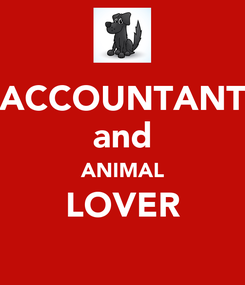 Poster: ACCOUNTANT and ANIMAL LOVER