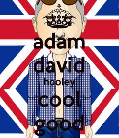 Poster: adam david hooley cool good