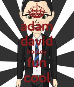 Poster: adam david hooley fun cool