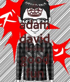 Poster: adam david hooley good fun