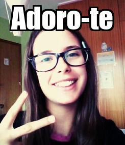Poster: Adoro-te
