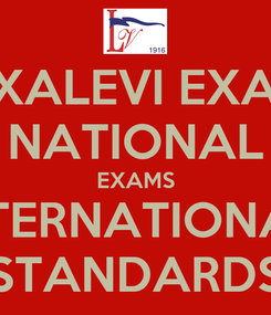Poster: AEXALEVI EXAMS NATIONAL EXAMS INTERNATIONAL  STANDARDS