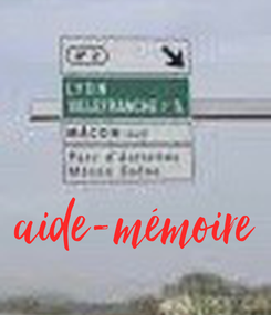 Poster: aide-mémoire