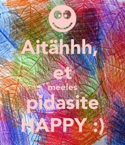 Poster: Aitähhh,  et meeles pidasite HAPPY :)