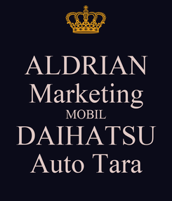 Poster: ALDRIAN Marketing MOBIL DAIHATSU Auto Tara