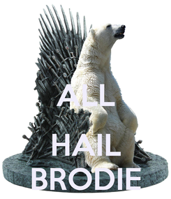 Poster:  ALL  HAIL BRODIE