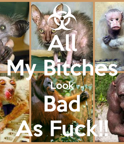 Poster: All My Bitches Look Bad As Fuck!!