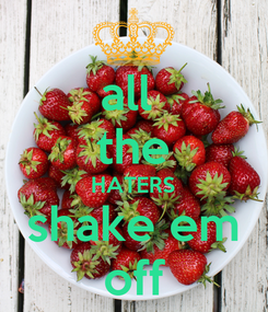 Poster: all  the HATERS shake em off