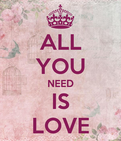 Poster: ALL YOU NEED IS LOVE