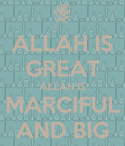 Poster: ALLAH IS GREAT ALLAH IS MARCIFUL AND BIG