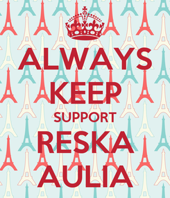 Poster: ALWAYS KEEP SUPPORT RESKA AULIA