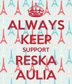 Poster: ALWAYS KEEP SUPPORT RESKA AULIA