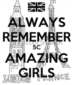 Poster: ALWAYS REMEMBER 5C AMAZING GIRLS