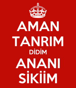 Poster: AMAN TANRIM DİDİM ANANI SİKİİM