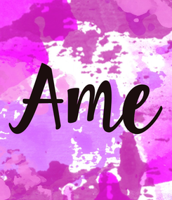 Poster: Ame