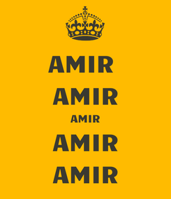 Poster: AMIR  AMIR AMIR AMIR AMIR