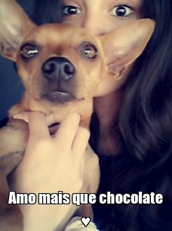 Poster:  Amo mais que chocolate ♥