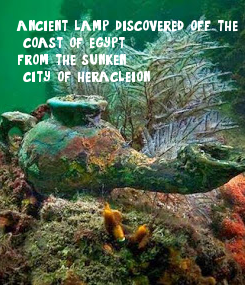 Poster: ancient lamp discovered off the