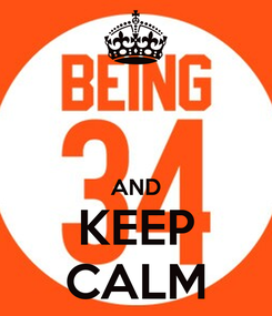Poster:   AND KEEP CALM