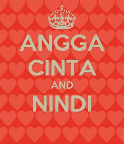 Poster: ANGGA CINTA AND NINDI