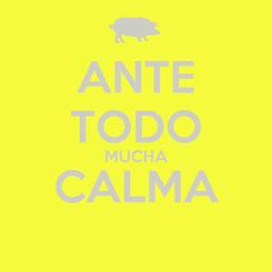Poster: ANTE TODO MUCHA CALMA