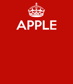 Poster: APPLE