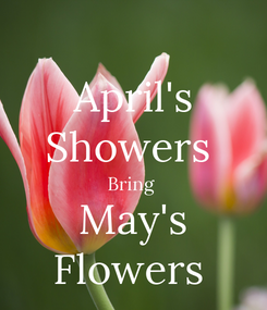 Poster: April's Showers  Bring  May's Flowers