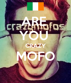 Poster: ARE  YOU  CRAZY MOFO