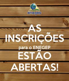 Poster: AS INSCRIÇÕES para o ENEGEP ESTÃO ABERTAS!