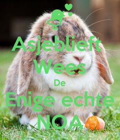 Poster: Asjeblieft  Wees De Enige echte NOA
