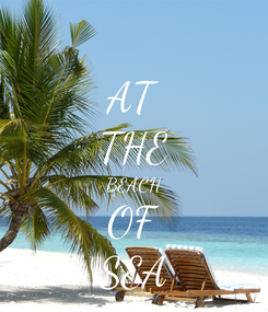 Poster: AT THE BEACH OF SEA