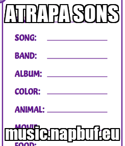 Poster: ATRAPA SONS music.napbuf.eu