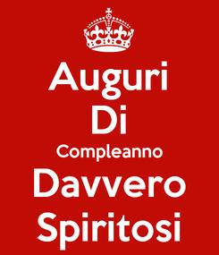 Poster: Auguri Di Compleanno Davvero Spiritosi