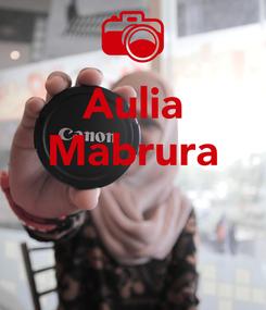 Poster: Aulia Mabrura