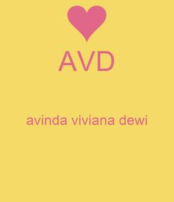 Poster: AVD  avinda viviana dewi