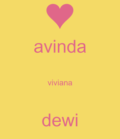 Poster: avinda  viviana  dewi