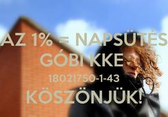 Poster: AZ 1% = NAPSÜTÉS GÓBI KKE  18021750-1-43 KÖSZÖNJÜK!