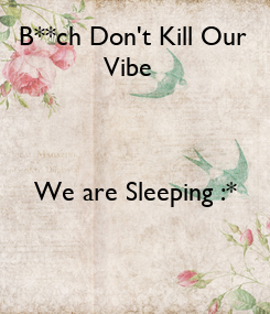 Poster: B**ch Don't Kill Our 
