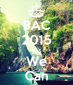Poster: BAC 2015 yes We Can