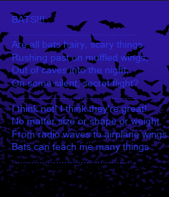Poster: BATS!!!