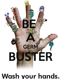 Poster: BE  A GERM BUSTER