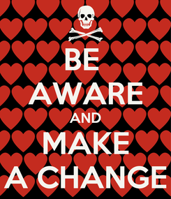Poster: BE  AWARE AND MAKE A CHANGE