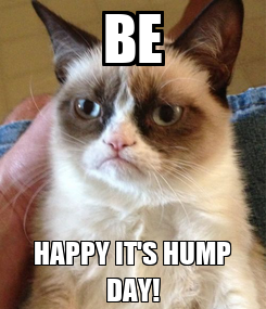 Poster: BE HAPPY IT'S HUMP DAY!