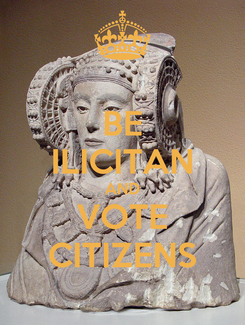 Poster: BE ILICITAN AND VOTE CITIZENS