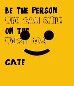 Poster: be the person