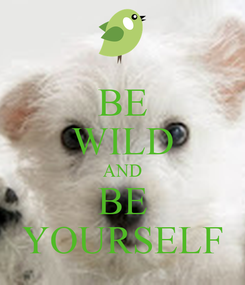 Poster: BE WILD AND BE YOURSELF