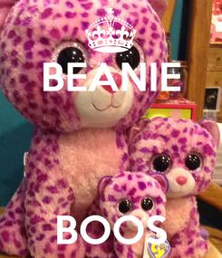 Poster: BEANIE    BOOS