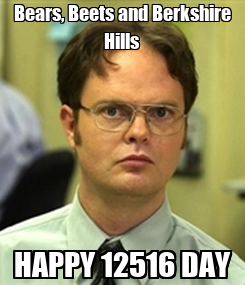 Poster: Bears, Beets and Berkshire Hills HAPPY 12516 DAY
